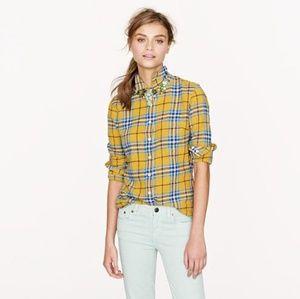 J Crew Plaid Flannel Boy Shirt